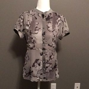 Apt. 9 Tops - Apt 9 gray floral blouse